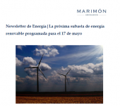 Newsletter: The next renewable energy tender will be held on May 17