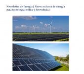 Newsletter: New energy tender for wind power and photovoltaic technologies