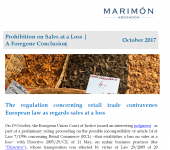 Newsletter: Prohibition on Sales at a Loss | A Foregone Conclusion