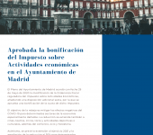 Tax refund on Commercial activities – Madrid